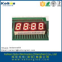 high brightness various color four digit seven segment display for cooking