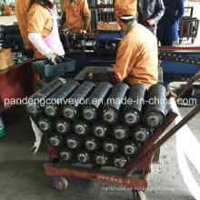 Rodillo transportador de impacto de goma de baja fricción / Rodillo de impacto / Rodillo de goma