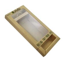 Custom Kraft Paper Drawer Box With pvc Window And Hang