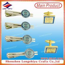 Großhandel kundenspezifische Vergoldung Krawatte Clip und Manschettenknöpfe