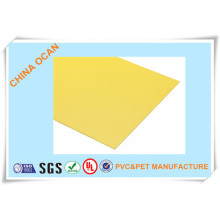 Hoja amarilla de PVC mate para la cubierta de enlace