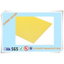 Feuille rigide de PVC mat jaune pour l'affichage
