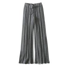 Frauen stricken Hosen weich warm 100% reine Kaschmir dicke Leggings mit Gürtel