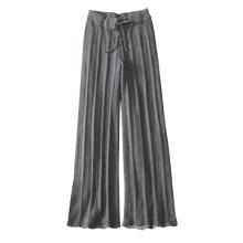 Femmes pantalons de tricotage doux chaud 100% pur leggings en cachemire épais avec ceinture