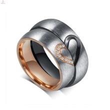 En gros personnaliser anneau de couple en acier titane, bague d'amour pour les couples
