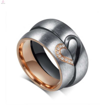 Wholesale customize titanium steel couple ring, love ring for couples