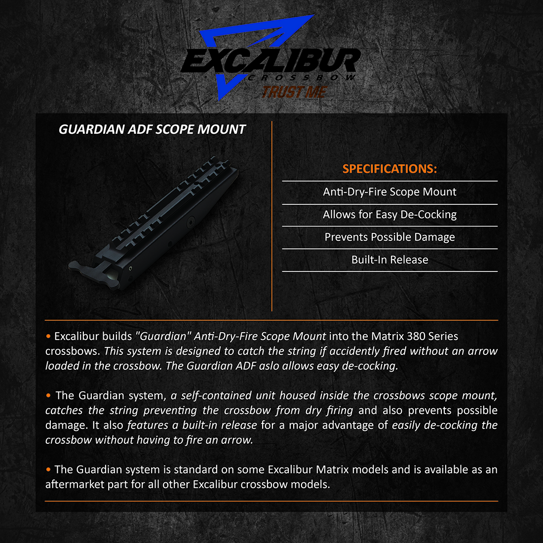 Excalibur_Gaurdian_ADF_Scope_Mount_Product_Description