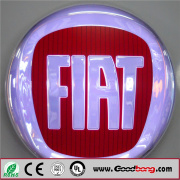 led acrylic round single side waterproof light box