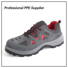 Calzado de seguridad barato con punta de acero de cuero genuino