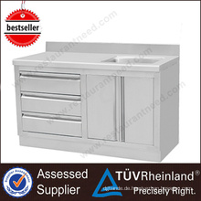 Moderne Küche Designs SS201 / 304 Edelstahl Waschbecken Schrank