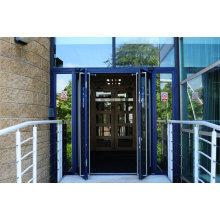 Portas de aço inoxidável de dupla janela