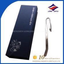 Custom logo awards China top sales metal engrave bookmark