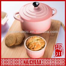 Cuisinière en céramique Pet Bowl Feuille en forme de plat Choix de qualité
