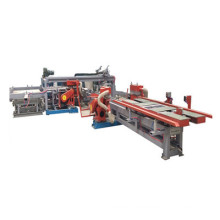 Automatic plywood four sides edge trimming machine