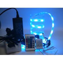 LED Light Strip Full Kit with Multi Color LEDs LED Tape Light with 30 LEDs/M, RGB SMD LED 5050
