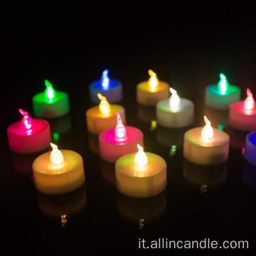 Candele led decorative tealight senza fiamma di pastella
