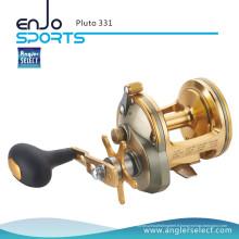 Angler Select Pluto Reboque de pêche à la mer A6061-T6 Corps en aluminium 3 + 1 Tombage de pêche à roulement (Pluton Pluton 331)