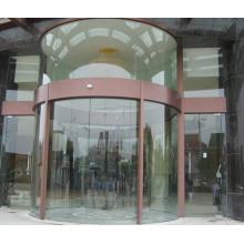 Porte coulissante en verre rotatif à colonne centrale supérieure professionnelle colonne centrale