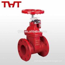 rubber seat flanged non-rising gate valve for fire fighting