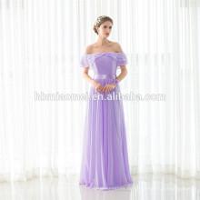 Späteste Art und Weise hellpurpurne Mädchen Maxi Off-Schulter Kleid Dame Party Wear Großhandel Abendkleid