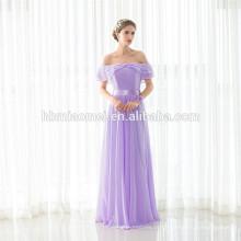 Mais recente moda luz roxo menina maxi off-ombro dress lady party wear atacado vestido de noite