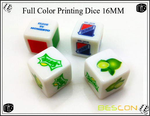 Full Color Printing Dice 16MM