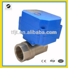 "reduce-port electric actuator valve ,3-6VDC,12VDC 1"" SS304 material for IC card water meters,reuse of grey water system"