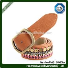 New Design Belt /Fashion jeans leather belt /womens jeans leather belt / Lady Beaded fashion leather belt