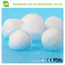 100% algodón bola de gasa absorbente (con certificación CE. ISO)