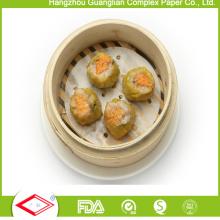 152mm rundes Antihaft-Silikon-beschichtetes dämpfendes Papier für das kochende Lebensmittel