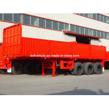30' Cargo Traier with Three Axles and Drop Side