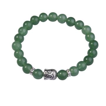 Natural Aventurine8MM Gemstone Buddhism Prayer Beads Bracelet Buddha Jewelry