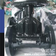 Válvula de diafragma con volante FF Gg25 con bridas de hierro fundido recto