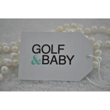 Papel branco de design especial usado para o Baby Hangtag do Golf