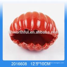 Alta qualidade mar shell vermelho cerâmico portátil cinzeiro