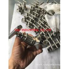 Válvula de agulha de aço inoxidável com extremidade de soldagem de soquete