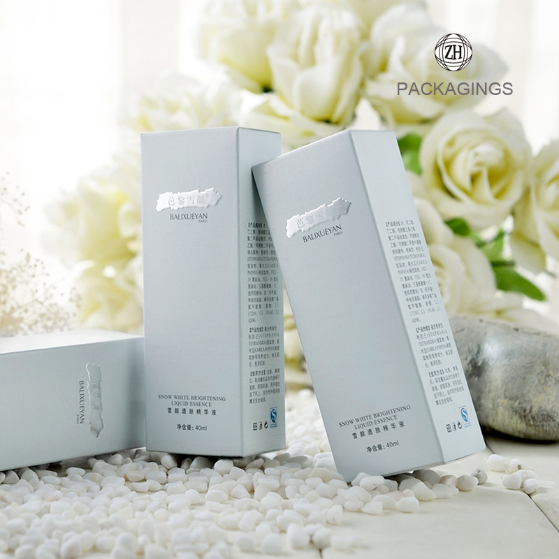 Silver+luxury+customized+paper+box+for+cosmetic