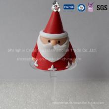 Mini-Plastik-Lehm Weihnachtsdekoration Weihnachtsmann