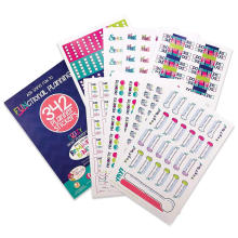 Semanal Calendario mensual Pegatinas PVC impermeable Etiqueta Planificador decorativo personalizado Paquete de pegatinas