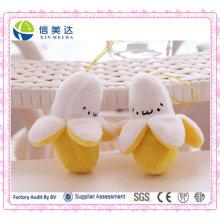 Plüsch geschälte Banane Schlüsselbund / Plüsch Obst Anhänger Spielzeug