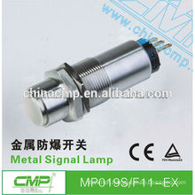 19mm CMP waterproof 1NO 1NC or 2NO 2NC stainless steel explosion-proof safety pushbutton switch