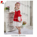 boutique wolf remake red lace medium dress