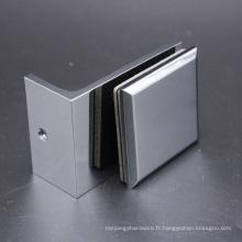 Agrafe de bride de porte-verre carré de Aspen monté au plancher de haute qualité avec le bord biseauté