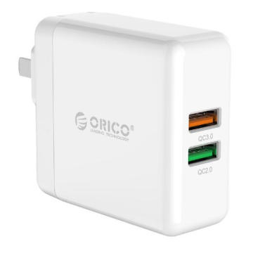 ORICO QC3.0 y puertos duales QC2.0 Smart Wall Charger