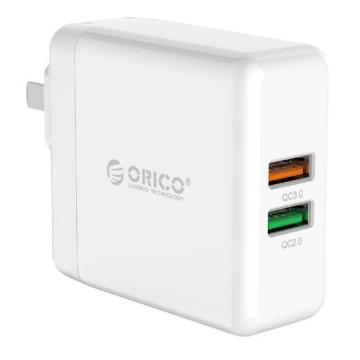 ORICO QC3.0 & QC2.0 dual ports Smart wall Charger