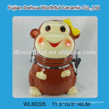 2015 new monkey design ceramic container seal