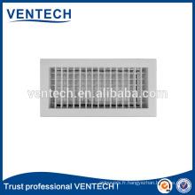 Aluminium Double déflexion Air Register pour système de CVC