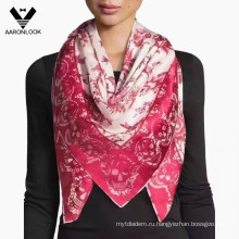Флай леди мода птица и череп трафаретная печать Шелковый шарф
