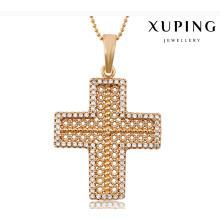 32703 moda charme cubic zirconia cruz imitação de jóias cadeia pingente em liga de cobre