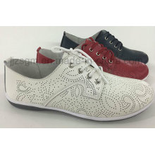 Comfortable Fashion Flat Genuine Brogue Casual Shoes for Women